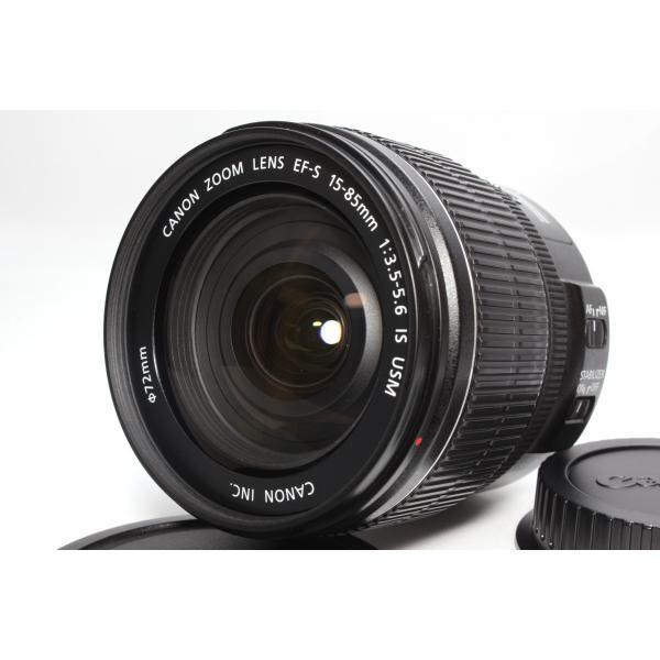 広角標準レンズ Canon キヤノン EF-S 15-85mm F3.5-5.6 IS USM レンズ 手ブレ補正 交換レンズ 一眼レフ