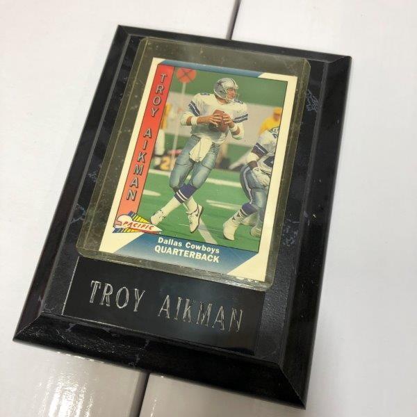 訳あり特価 NFL アメフト TROY AIKMAN トロイ エイクマン フォトプラーク プラーク カード A-2