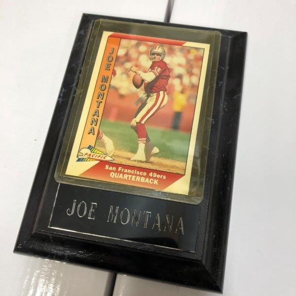 訳あり特価 NFL アメフト JOE MONTANA ジョー モンタナ フォトプラーク プラーク カード A-4