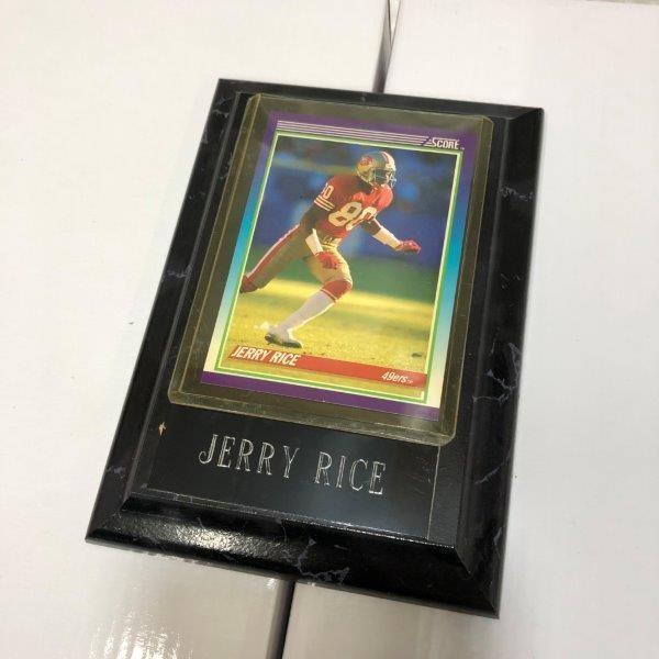 訳あり特価 NFL アメフト JERRY RICE ジェリー ライス フォトプラーク プラーク カード A-5