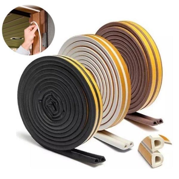 隙間テープ 5m ドア すきま風防止 防音パッキン 引き戸 窓 扉 玄関用すきま 虫塵すき間侵入防止 シール テープ LB-38