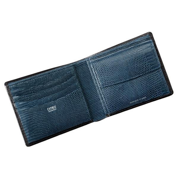 メンズ 財布 二つ折り 小銭入れあり キプリスコレクション ボックスカーフ&リザード|noijapan|03