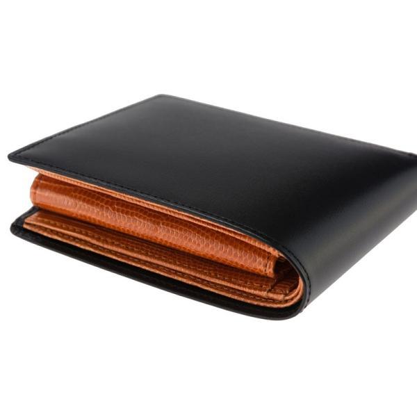 メンズ 財布 二つ折り 小銭入れあり キプリスコレクション ボックスカーフ&リザード|noijapan|07