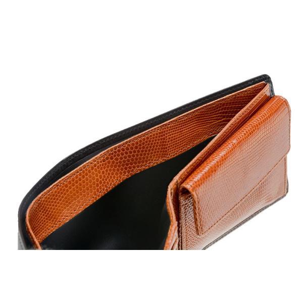 メンズ 財布 二つ折り 小銭入れあり キプリスコレクション ボックスカーフ&リザード|noijapan|09