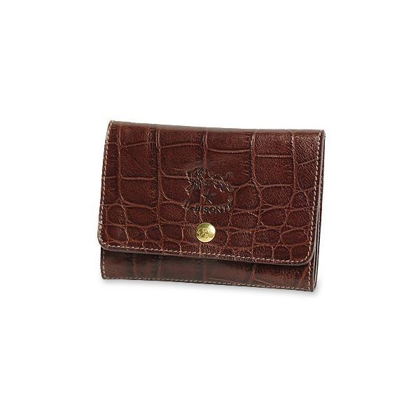 イルビゾンテ 財布 クロコダイル型押し2つ折りウォレット(カードホルダー付き) 商品番号5402305940 送料無料 IL BISONTE|noix