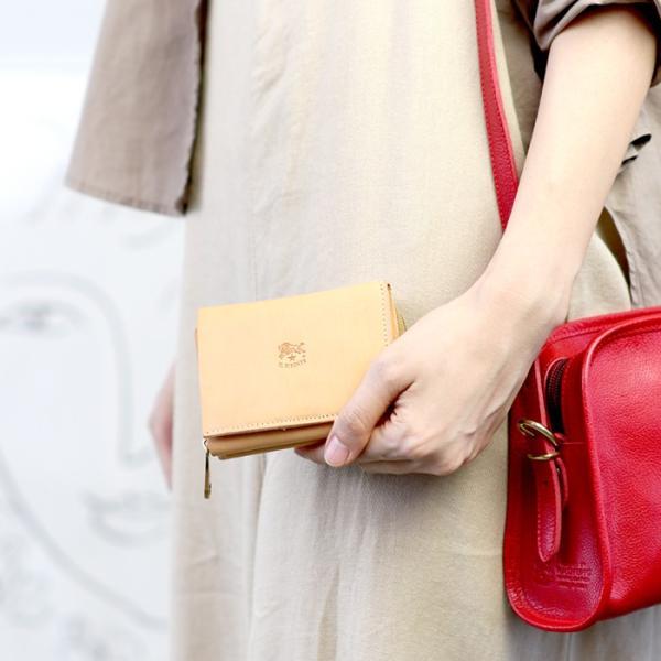 イルビゾンテ 日本正規取扱店 財布 三つ折りコンパクト財布(ファスナー) 54192310140 送料無料 IL BISONTE ラッピング無料|noix|02