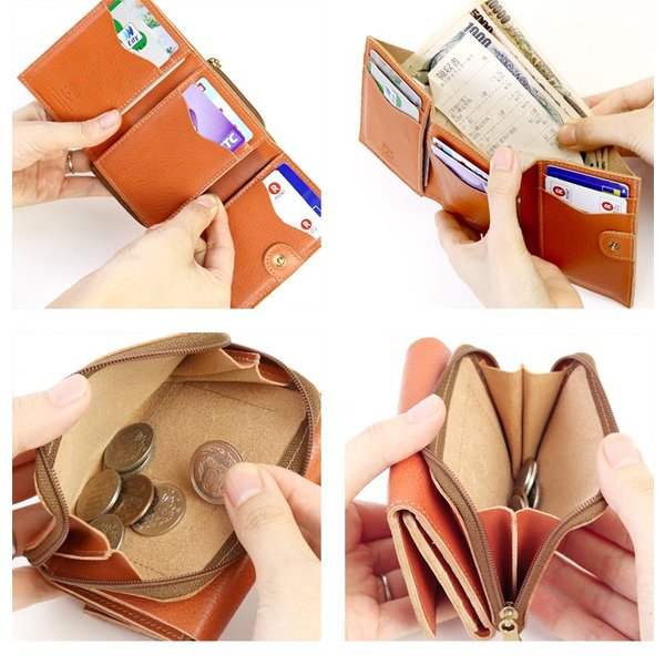 イルビゾンテ 日本正規取扱店 財布 三つ折りコンパクト財布(ファスナー) 54192310140 送料無料 IL BISONTE ラッピング無料|noix|04