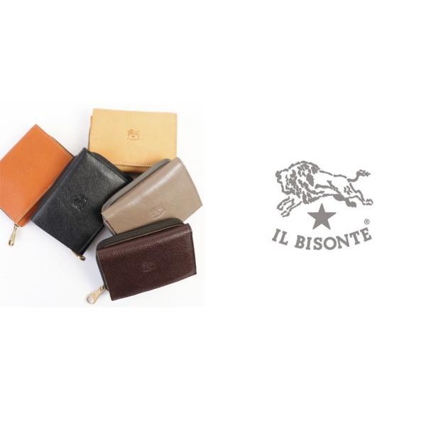 イルビゾンテ 日本正規取扱店 財布 三つ折りコンパクト財布(ファスナー) 54192310140 送料無料 IL BISONTE ラッピング無料|noix|05