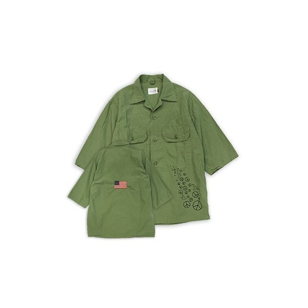 【s30】【CAL O LINE/キャルオーライン】PACIFIST FATIGUE 1/2 SLEEVE SHIRT【送料無料】【キャンセル返品交換不可】【let】 noix