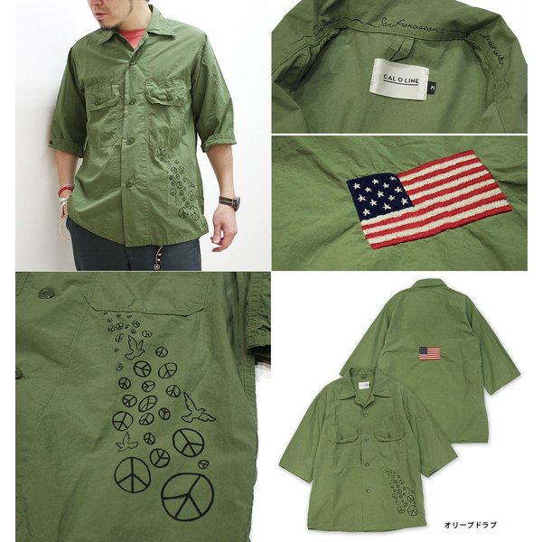 【s30】【CAL O LINE/キャルオーライン】PACIFIST FATIGUE 1/2 SLEEVE SHIRT【送料無料】【キャンセル返品交換不可】【let】 noix 02