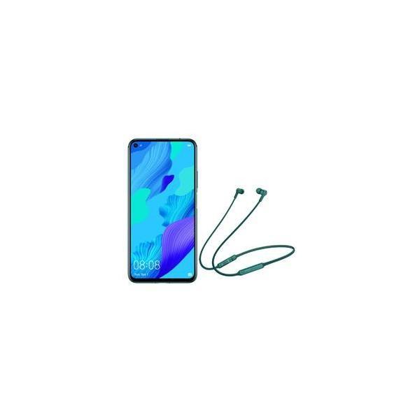 HUAWEI SIMフリースマートフォン nova 5T クラッシュグリーン + FreeLace エメラルドグリーン NOVA5T-GREEN-FL