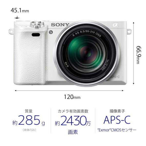 SONY ミラーレス一眼 α6000 パワーズームレンズキット E PZ 16-50mm F3.5-5.6 OSS ホワイト ILCE-60 nomad 05
