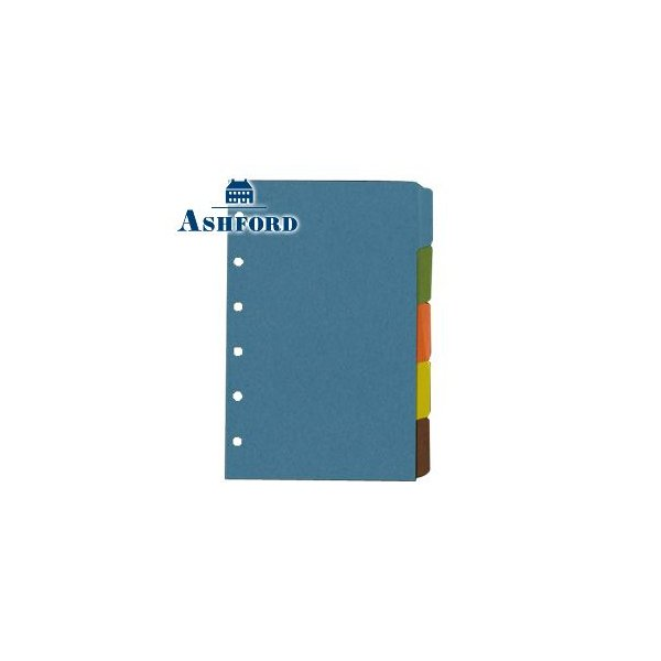 リフィル インデックス アシュフォード リフィル ミニ6 6穴 サイド5段 カラーインデックス 5個セット No. 1558-100