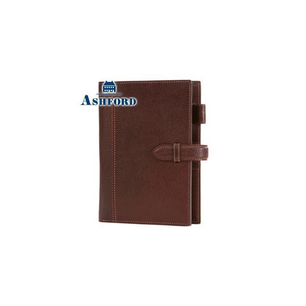 システム手帳 B6 革 アシュフォード リフィールプレゼント 名入れ無料 ディープ B6サイズ 19ミリ ベルト システム手帳 ブラウン No. 7238-022