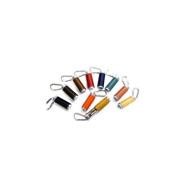 携帯灰皿 革 スリップオン BTシリーズ オレンジ 新Twistタイプ カラビナ付き 携帯用灰皿 INL-2505OR