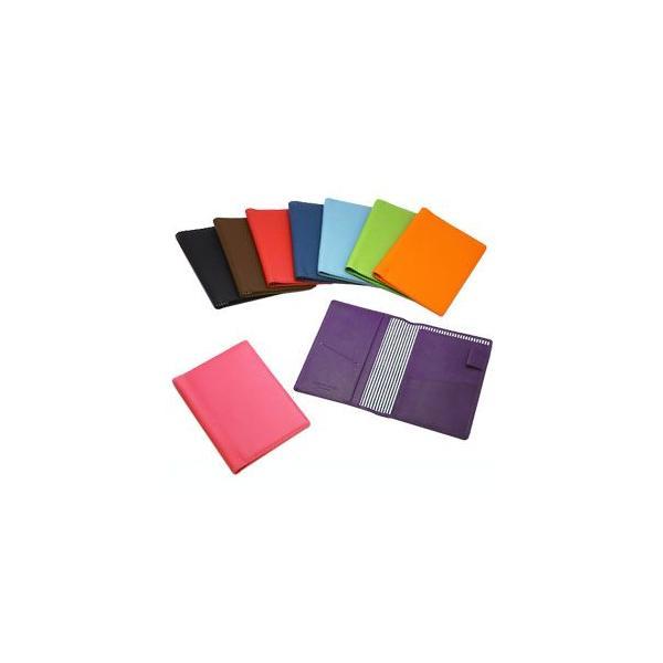 パスポートケース メンズ 革 名入れ スリップオン Noir NSLシリーズ レッド パパベロ ノワールコレクション パスポートケース NSL-2801RD