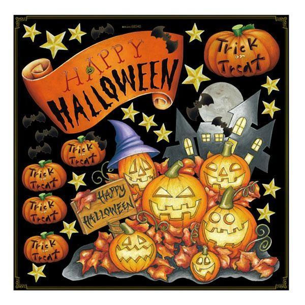 Pデコレーションシール 68540 ハロウィン かぼちゃ 送料無料  送料無料 メーカー直送 期日指定・ギフト包装・注文後のキャンセル・返品不可 ご注文後在庫確