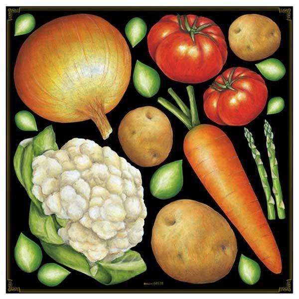 デコレーションシール 野菜アソート 68538 送料無料  送料無料 メーカー直送 期日指定・ギフト包装・注文後のキャンセル・返品不可 ご注文後在庫確認時に欠品