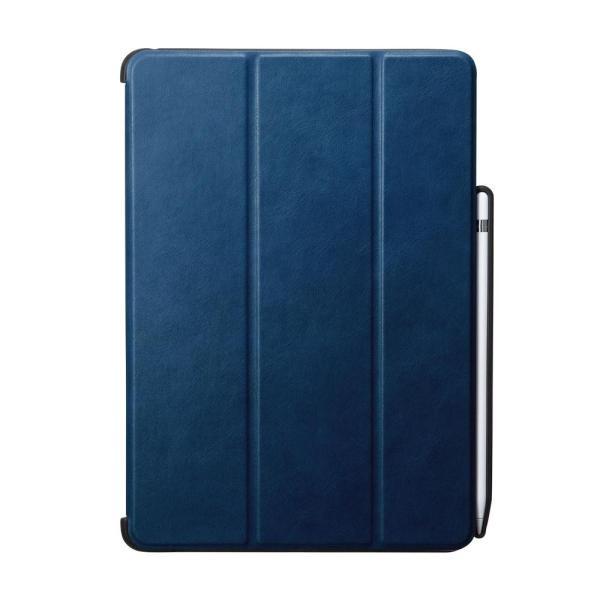 iPad 10.2インチ Apple Pencil収納ポケット付きケース ブルー PDA-IPAD1614BL 送料無料  送料無料 メーカー直送 期日指定・ギフト包装・注文後のキャンセル