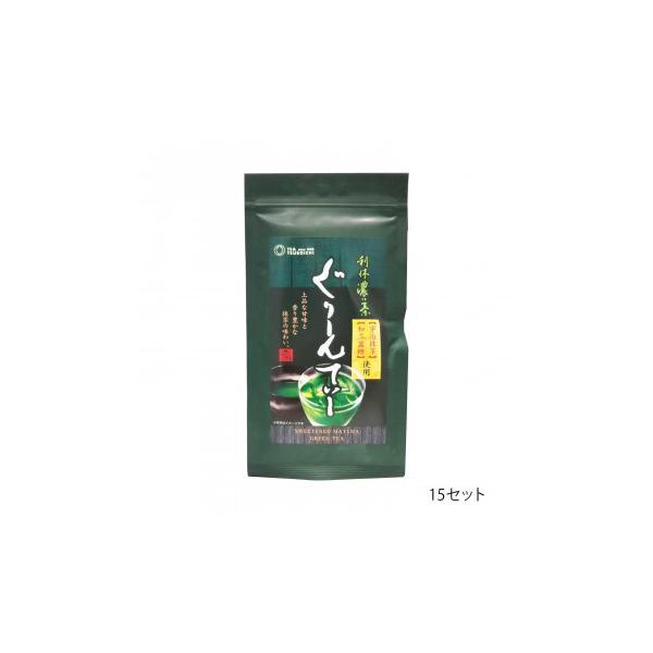 つぼ市製茶本舗 利休濃い茶 ぐりーんてぃー 100g 15セット 送料無料  代引き不可 送料無料 メーカー直送 期日指定・ギフト包装・注文後のキャンセル・返