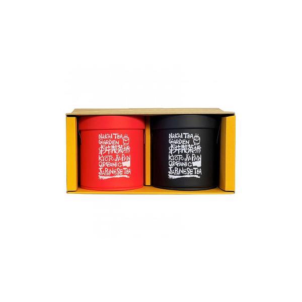 中井製茶場 有機栽培茶 ギフト缶セット 和紅茶・ウーロン茶 リーフ(茶葉)タイプ J1350 送料無料  代引き不可 送料無料 メーカー直送 期日指定・ギフト