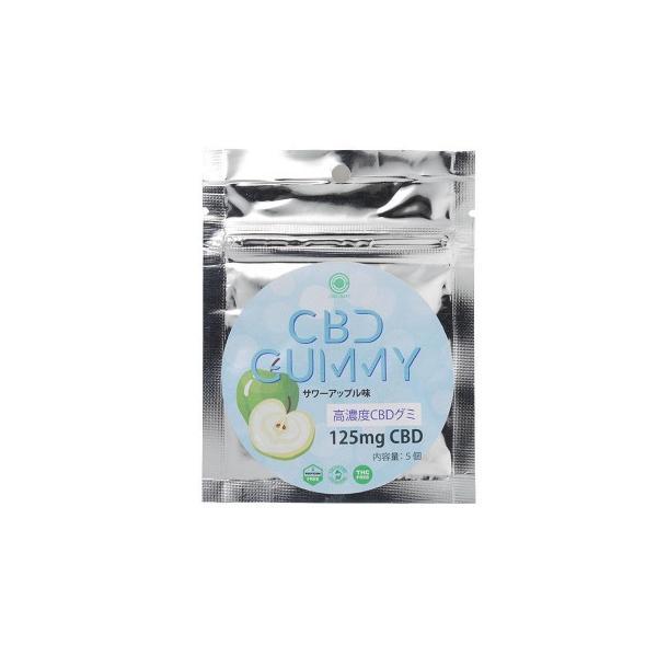 CBD GUMMY 高濃度CBDグミ No.90350200 (CBD含有量 25mg×5個入り) サワーアップル味 送料無料  送料無料 メーカー直送 期日指定・ギフト包装・注文後のキャン