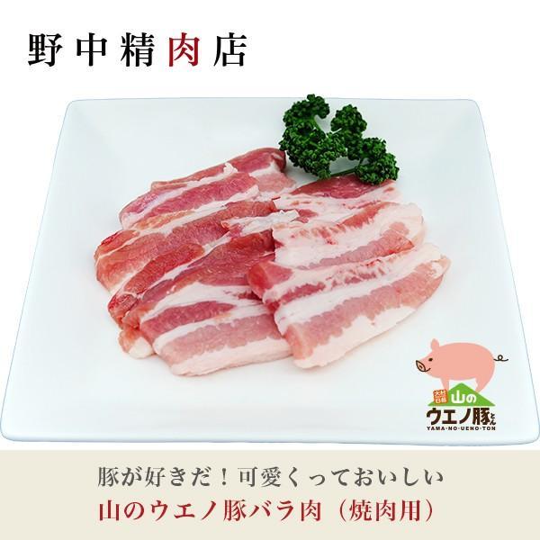 豚肉 山のウエノ豚バラ肉(焼肉用)3〜5人分(500g)