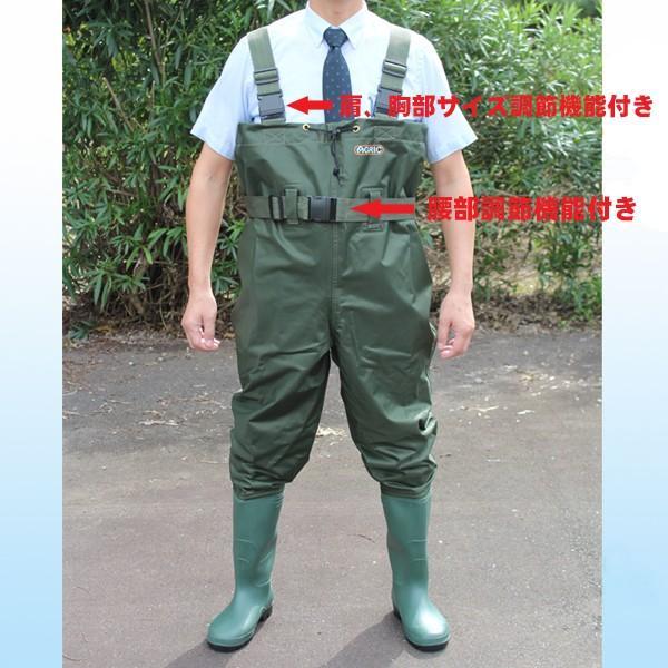 荘快堂 胴付長靴 アグリック チェストハイ ウェーダー V-70【V−70】|nonnonxx2001|06