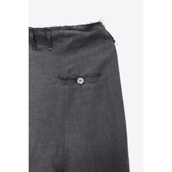 【Atelier Aura/アトリエアウラ】Deep crotch linen trouser ドロップクロッチクロップドパンツ46 黒 ブラック  アルチザン メンズ |nontitletokyo|04