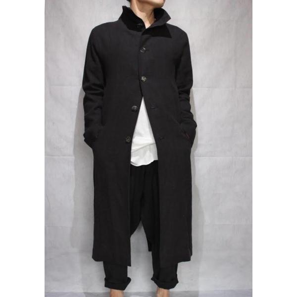 【Atelier Aura/アトリエアウラ】Deep crotch linen trouser ドロップクロッチクロップドパンツ46 黒 ブラック  アルチザン メンズ |nontitletokyo|09