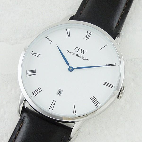 ダニエルウェリントン メンズ レディース ダッパー ブリストル シルバー レザー 1123DW あすつく 腕時計|nopple