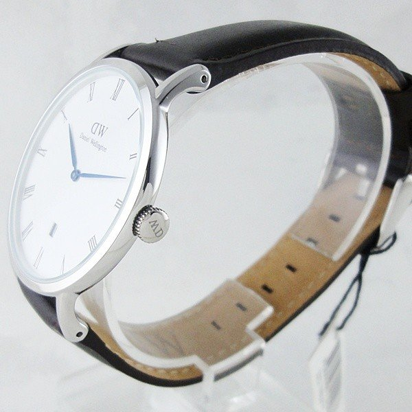 ダニエルウェリントン メンズ レディース ダッパー ブリストル シルバー レザー 1123DW あすつく 腕時計|nopple|02