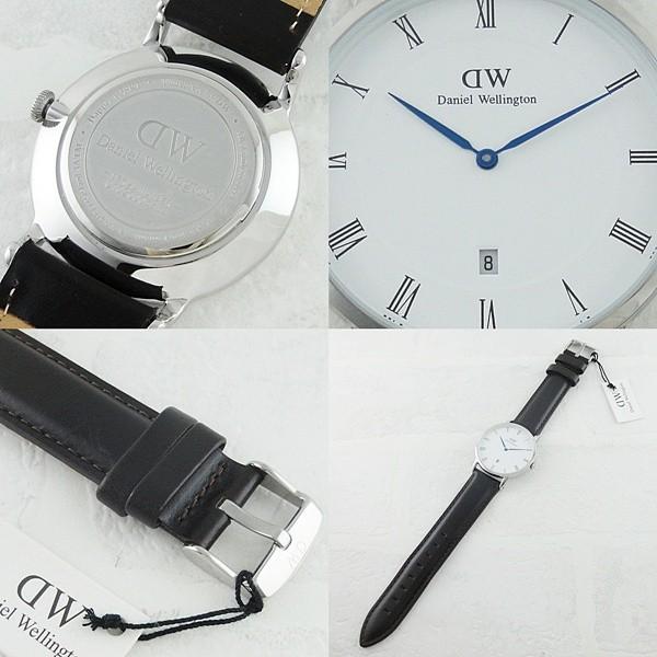 ダニエルウェリントン メンズ レディース ダッパー ブリストル シルバー レザー 1123DW あすつく 腕時計|nopple|03