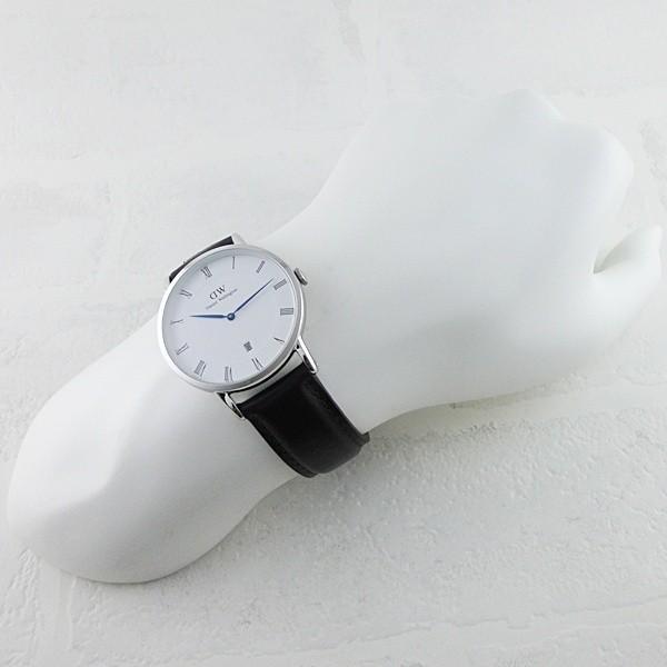 ダニエルウェリントン メンズ レディース ダッパー ブリストル シルバー レザー 1123DW あすつく 腕時計|nopple|04