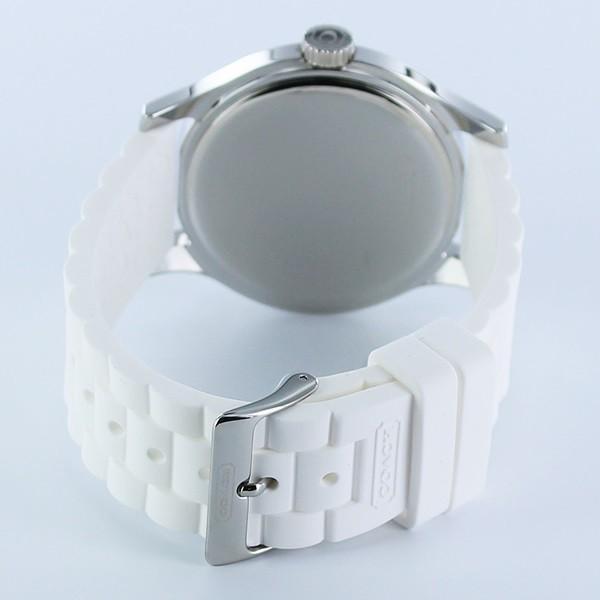 時計収納ボックス付き 誕生日 お祝いプレゼントにおすすめ コーチ メンズ レディース 彼氏 男性 彼女 女性 MADDY ホワイト シリコン あすつく 腕時計|nopple|04