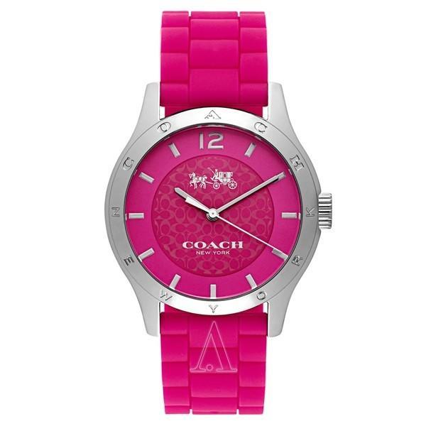 コーチ レディース MADDY ピンク シリコン 14502513 あすつく 腕時計|nopple