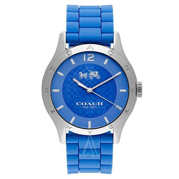 コーチ メンズ レディース MADDY ブルー シリコン 14502514 あすつく 腕時計|nopple
