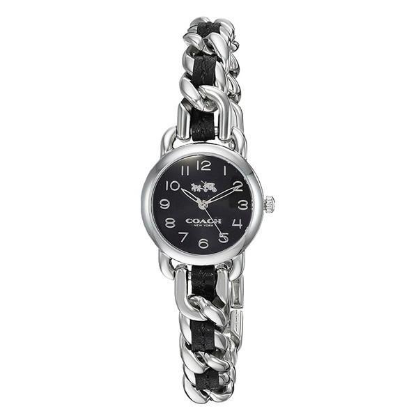 673791357f3d コーチ レディース デランシー ブラック文字盤 チェーン 14502725 あすつく 腕時計の画像