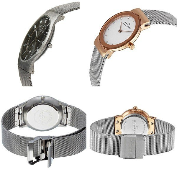 スカーゲン ペアウォッチ チタニウム メッシュブレス 233XLTTM358SRSC あすつく 腕時計 nopple 02