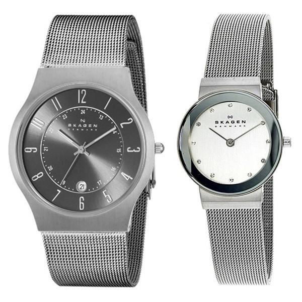 スカーゲン ペアウォッチ チタニウム メッシュブレス 233XLTTM358SSSD あすつく 腕時計 nopple