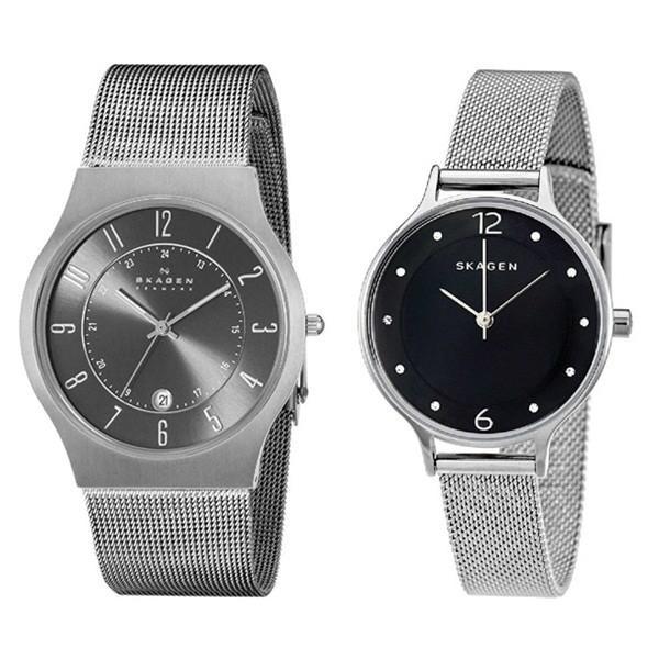 スカーゲン ペアウォッチ メッシュベルト 233XLTTMSKW2473 あすつく 腕時計|nopple