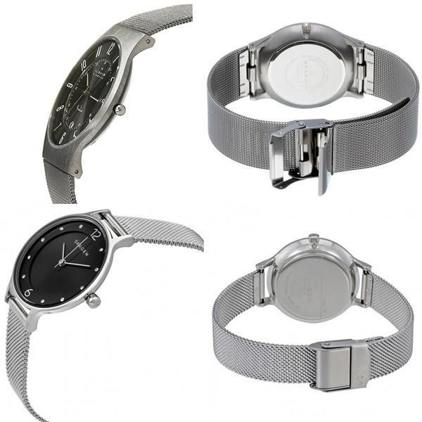 スカーゲン ペアウォッチ メッシュベルト 233XLTTMSKW2473 あすつく 腕時計|nopple|02
