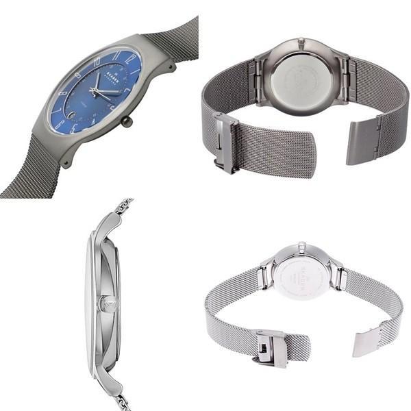 スカーゲン ペアウォッチ ブルー文字盤 233XLTTNSKW2307 あすつく 腕時計