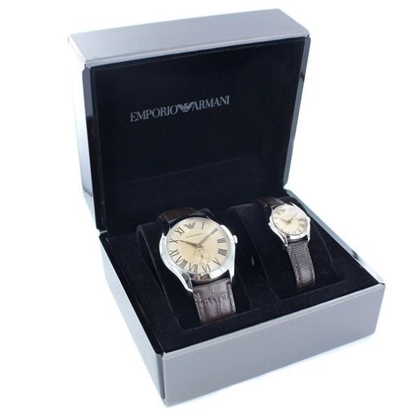 エンポリオアルマーニ ペアウォッチ レザー AR9110 あすつく 腕時計
