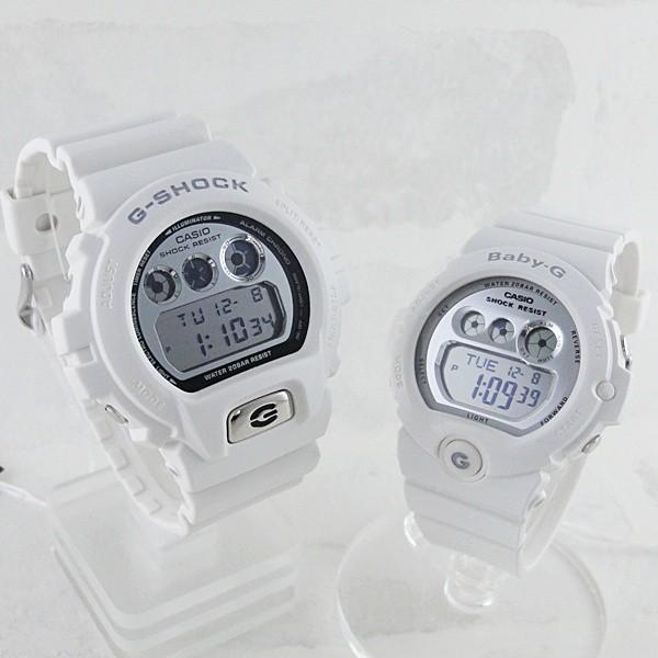 カシオ Gショック×ベビーG ペアウォッチ ホワイト×シルバー  あすつく 腕時計|nopple