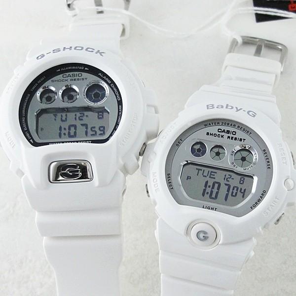 カシオ Gショック×ベビーG ペアウォッチ ホワイト×シルバー  あすつく 腕時計|nopple|02