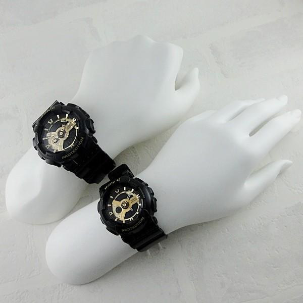 カシオ Gショック×ベビーG ペアウォッチ GA-110GB-1AJFBA-110-1AJF あすつく 腕時計|nopple|04