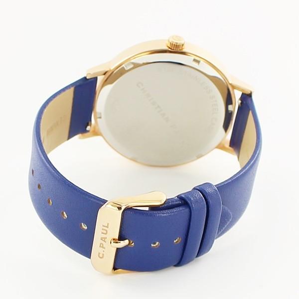 【ペア収納BOX付き】クリスチャンポール ペアウォッチ グリッド 格子柄 チェック ブルー 青 天然皮革 GR-07GRL-07 あすつく 腕時計