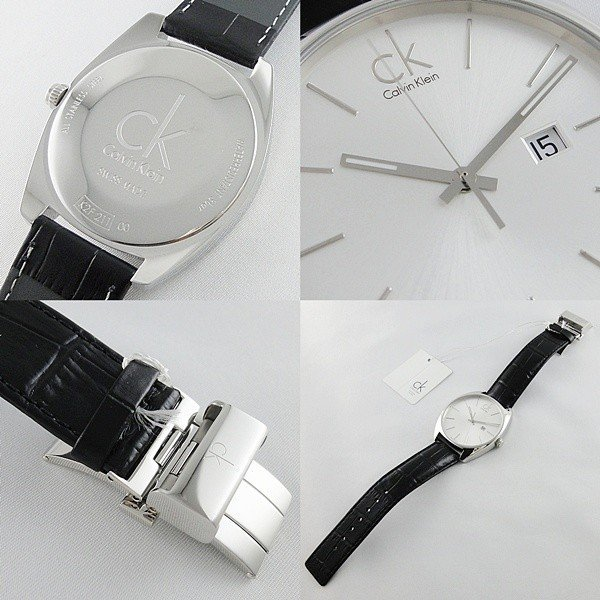 CK 時計 カルバンクライン スイス製 おしゃれなミニマル シンプル クロコ型押しブラックレザー 無料特典付き! あすつく 腕時計|nopple|04
