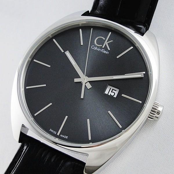 CK 時計 カルバンクライン スイス製 おしゃれなミニマル シンプル クロコ型押しブラックレザー 無料特典付き! あすつく 腕時計|nopple|05